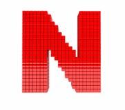 дизайн 3D письмо красного цвета английского алфавита Стоковое Изображение RF
