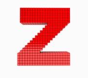 дизайн 3D письмо красного цвета английского алфавита Стоковая Фотография RF