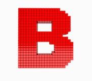 дизайн 3D письмо красного цвета английского алфавита Стоковая Фотография