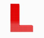 дизайн 3D письмо красного цвета английского алфавита Стоковые Изображения