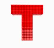 дизайн 3D письмо красного цвета английского алфавита Стоковое Фото