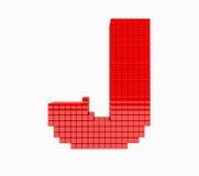 дизайн 3D письмо красного цвета английского алфавита Стоковые Изображения RF
