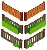 дизайн 3D для различной стены и загородки fo стилей Стоковое Фото