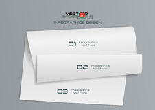 дизайн Infographics белой бумаги 3d Стоковые Изображения RF
