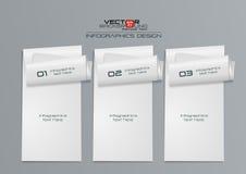 дизайн Infographics белой бумаги 3d Иллюстрация штока