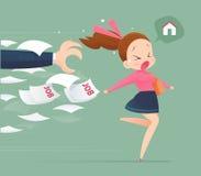 Избегание женщины от работы, резерва бесплатная иллюстрация