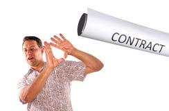 Избежание контракта стоковые фото