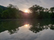 Избежание озера Стоковая Фотография
