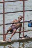 Избежание через загородку на Amma Mandapam стоковые фото
