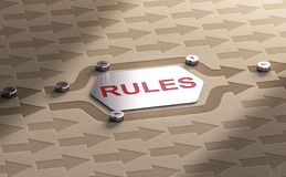 Избежать концепцию правил стоковая фотография