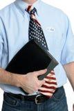 Избиратель патриота дела голубых джинсов Стоковые Фотографии RF