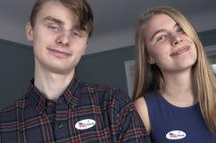 Избиратели первого раза детенышей Стоковое фото RF