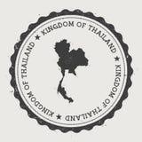 Избитая фраза битника Таиланда круглая с страной Стоковые Изображения RF