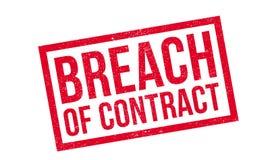 Избитая фраза нарушения контракта Стоковая Фотография RF