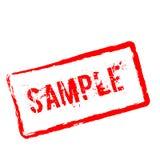 Избитая фраза образца красная изолированная на белизне Стоковая Фотография