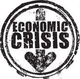 Избитая фраза с экономическим кризисом текста иллюстрация штока