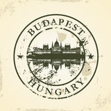 Избитая фраза Grunge с Будапештом, Венгрией бесплатная иллюстрация
