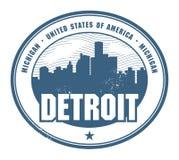 Избитая фраза Grunge с именем Мичигана, Детройта иллюстрация вектора