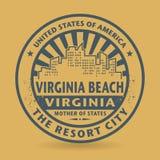 Избитая фраза Grunge с именем Virginia Beach, Вирджинии Стоковые Изображения