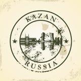 Избитая фраза Grunge с Казанью, Россией иллюстрация вектора