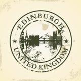 Избитая фраза Grunge с Эдинбургом, Великобританией иллюстрация вектора