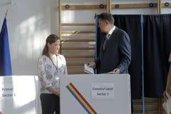 Избрания Румыния Klaus Iohannis стоковое изображение rf