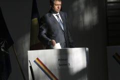 Избрания Румыния Klaus Iohannis стоковое фото