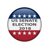 Избрания Соединенных Штатов Избрания 2018 США происходящие в середине семестра экзамены: гонка для конгресса Кнопка Pin избрания, иллюстрация вектора