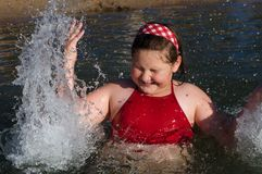 избыточный вес девушки Стоковая Фотография RF