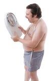 избыточный вес человека Стоковое Изображение RF