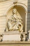 Изваяйте комедию, на фасаде театра оперы и балета здания в Львове Стоковое Изображение