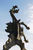 Изваяйте дракона Wawel в Кракове Стоковое фото RF