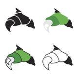 Изверги вектора или когти дракона в отказе иллюстрация штока