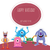 изверги дня рождения счастливые Стоковая Фотография RF