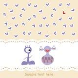 изверги 2 влюбленности карточки иллюстрация вектора