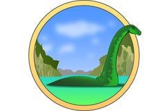 Изверг Лох-Несс Стоковое фото RF