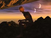 Изверг луны Стоковые Фото