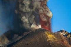 Извержение вулкана Этна, Стоковое Фото