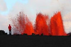 извержение вулканическое стоковые фотографии rf