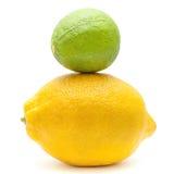 Известка и лимон Стоковое Изображение