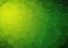 Известка reen яркое абстрактное изображение треугольника Стоковая Фотография RF