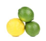 2 известки и один лимон Стоковое фото RF