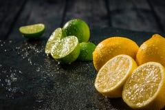 Известки и цитрусовые фрукты лимонов Стоковая Фотография