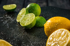 Известки и цитрусовые фрукты лимонов Стоковое Изображение RF
