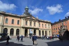Известная академия Nobel в Стокгольме Стоковая Фотография
