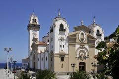 Известная базилика Candelaria на Тенерифе стоковое изображение