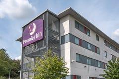 Известная, великобританская сеть отелей увиденная показать новое здание стоковое изображение rf