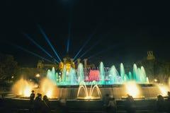 Известная волшебная выставка фонтана в Барселоне, Испании Стоковые Фотографии RF