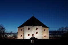 Известная звезда замка Letohradek Hvezda ориентир ориентира на белом холме в Праге, чехии, во время захода солнца Стоковое фото RF