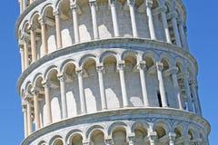 известная Италия полагаясь башня символа pisa Стоковое Фото